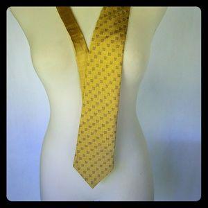 Nautica Geometric Checkered Classic Necktie Tie